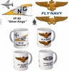 "VF-92 ""Silver Kings"" F-4 Phantom II Mug (70-72)"