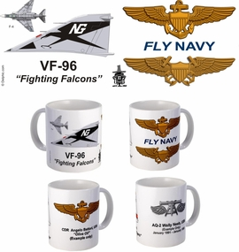 "VF-96 ""Fighting Falcons"" F-4 Phantom II Mug"