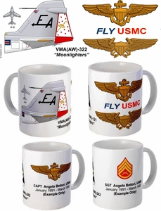 "VMA(SW)-332 ""Moonlighters"" A-6 Intruder Mug"