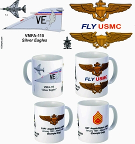 "VMFA-115 ""Silver Eagles"" F-4 Phantom II Mug"