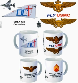"VMFA-122 ""Werewolves"" F-4 Phantom II Mug"