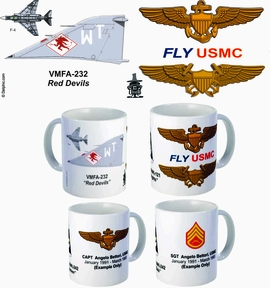 "VMFA-232 ""Red Devils"" F-4 Phantom II Mug"
