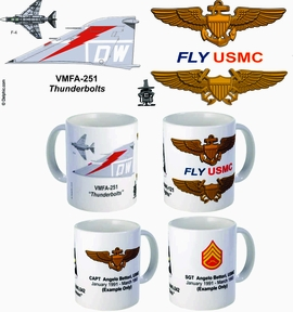 "VMFA-251 ""Thunderbolts"" F-4 Phantom II Mug"
