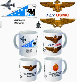 "VMFA-451 ""Warlords"" F-4 Phantom II Mug"