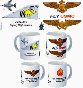 "VMFA-513 ""Flying Nightmares"" F-4 Phantom II Mug"