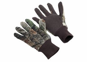 1279H MESH CAMO HUNTING GLOVES W/PVC DOTS ON PALM & FINGERS<BR>FINAL CLOSEOUT!