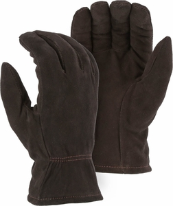 1548 - 1548BLK PREMIUM SUEDE DEERSKIN THINSULATE™ LINED DRIVERS GLOVES