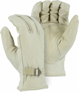 "1550  ""THE FENCING GLOVE"" HEAVY DUTY GRADE A UNLINED GRAIN COWHIDE GLOVES W/DOUBLE LEATHER PALM"
