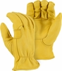 1564  ELKSKIN DELUXE A-GRADE <U>DOUBLE PALM</U> GRAIN LEATHER UNLINED DRIVERS GLOVES