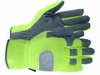 T169  IRONSKIN® BREATHABLE HI-VIZ MESH WITH SYNTHETIC LEATHER PALM UNLINED MECHANICS GLOVES<BR>CLOSEOUT PRICE $8.99