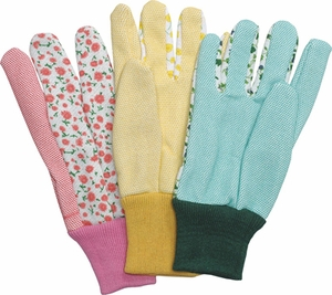 """19893 """"GARDEN TOUCH"""" LADIES JERSEY GLOVES<font color=""""000000"""">"""