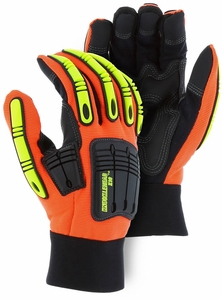 21242HO PREMIUM UNLINED KNUCKLEHEAD X10&#153; ARMOR SKIN&#153 MECHANICS GLOVES W/IMPACT PROTECTION<BR>CLOSEOUT PRICE $11.99
