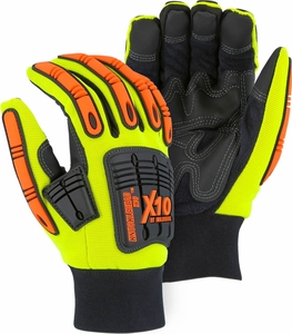 21247HY KNUCKLEHEAD X10&#153 ARMOR SKIN&#153 IMPACT PROTECTION REINFORCED PALM 100g THINSULATE&#153 LINED WATERPROOF PREMIUM MECHANICS GLOVES