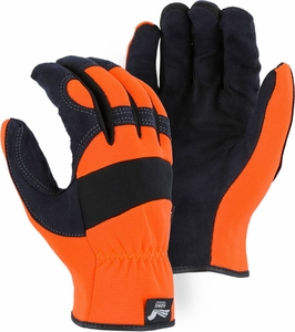 2136HO ARMOR SKIN&#153 HAWK SYNTHETIC LEATHER HI-VIS MECHANICS GLOVES