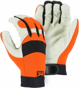2152THV  BALD EAGLE PREMIUM GRAIN PIGSKIN THINSULATE™ LINED HI-VIS MECHANICS GLOVES
