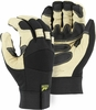 2160T  BLACK EAGLE DELUXE GRAIN PIGSKIN THINSULATE&#153 LINED MECHANICS GLOVES W/REINFORCED PALM & FINGERTIPS