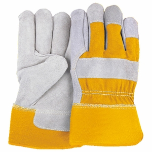 "2501CY-B  GRADE  ""A"" COWHIDE LEATHER PALM WORK GLOVES"