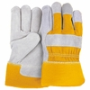 """2501CY-B  GRADE  """"A"""" COWHIDE LEATHER PALM WORK GLOVES"""
