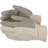 2610  COTTON CANVAS GLOVES w/PVC DOTS FOR GRIP