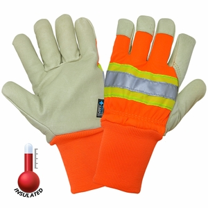 2900HVKW 140g COLD KEEP&#174 INSULATED PREMIUM GRAIN PIGSKIN HI-VIS WORK GLOVES