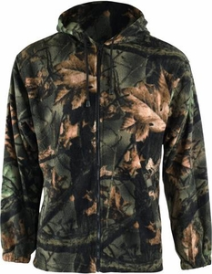 2913-95 TRAIL CREST MENS CAMO ZIPPER HOODED POLAR SWEATSHIRT