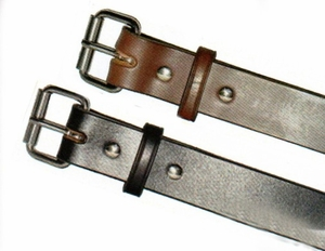 305-310 AMERICAN MADE PREMIUM HARNESS QUALITY GRAIN STEER HIDE BELTS.