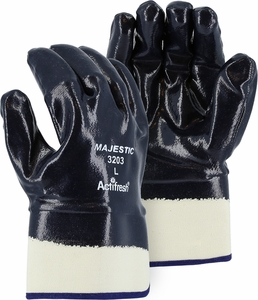 3203 HEAVY DUTY NITRILE DIPPED JERSEY LINED WORK GLOVES