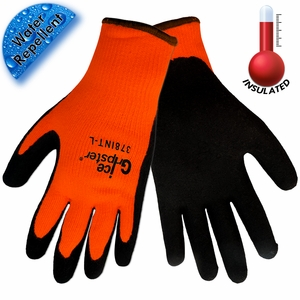 378INT ICE GRIPSTER&#174 WATER REPELLENT & CUT RESISTANT INSULATED GLOVES