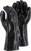 3364J BLACK DOUBLE DIPPED PVC ANHYDROUS NH3 CHEMICAL GLOVES<BR>BULK DOZENS