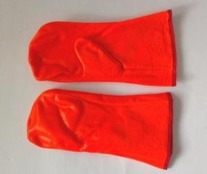 "3375 12"" HI-VIS ORANGE PVC FOAM LINED MITTEN FOR COLDER WEATHER CLOSEOUT PRICE $4.99"