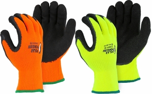 3396HO/HY POLAR PENGUIN® INSULATED HI-VIS HEAVYWEIGHT KNIT GLOVES W/LATEX COATED PALM & FINGERS
