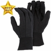 1400P STANDARD 8oz COTTON/POLY BROWN JERSEY GLOVES