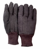 3401D BROWN JERSEY GLOVES w/MINI PVC DOTS FOR GRIP