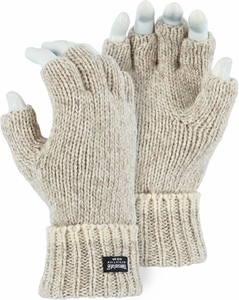 3424 DELUXE QUALITY FINGERLESS RAGG WOOL THINSULATE&#153 LINED GLOVES