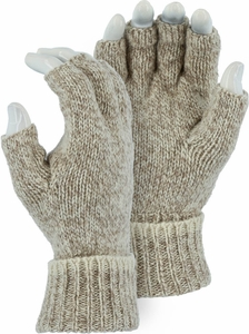 3427 UNLINED RAGG WOOL HEAVYWEIGHT 2-PLY FINGERLESS GLOVES<BR>CLOSEOUT PRICE $4.99