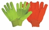 3454 COTTON/POLY CORDED DOUBLE PALM HI-VIS OIL WORKERS GLOVES