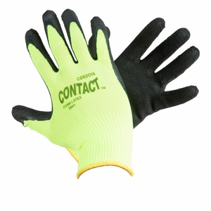 "3991 CONTACT&#153 BLACK FOAM LATEX COATED GLOVE<font color=""000000"">"