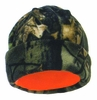 491-84 HIGHLAND TIMBER CAMO/BLAZE ORANGE REVERSIBLE POLY FLEECE BEANIE HAT
