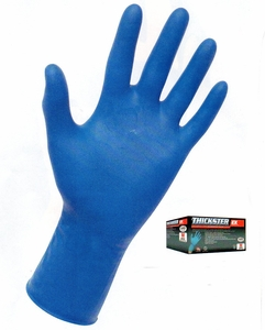 THICKSTER&#153 14mil 12inch POWDER FREE LATEX DISPOSABLE  GLOVES