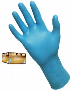 DERMA-MAX&#153 8mil 12inch POWDER FREE NITRILE DISPOSABLE GLOVES