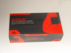 "70001 MAX DIESEL 6mil BLACK NITRILE POWDER FREE DISPOSABLE GLOVES<font color=""000000"">"