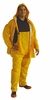 7007 HEAVY DUTY 35mil PVC/POLY 3-PIECE CHEMICAL RESISTANT & WATERPROOF SUITS<BR>CLOSEOUT PRICE $8.99