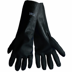 714R PREMIUM DOUBLE DIPPED PVC JERSEY LINED 14 INCH CHEMICAL GLOVES