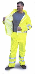 75-2351 RAIN PANTS ONLY - WATERPROOF-HIGH VISIBILITY