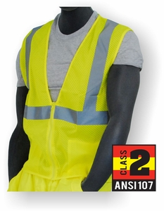 75-3201 CLASS 2 CONTRACTOR'S HI-VIS POLYESTER MESH SAFETY VEST
