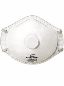 "80302V GATEWAY TRUAIR™ N95 PARTICULATE RESPIRATOR WITH EXHALE VALVE DUST MASKS<font color=""000000"">"