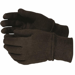 820 HEAVY DUTY 9oz COTTON BROWN JERSEY GLOVES