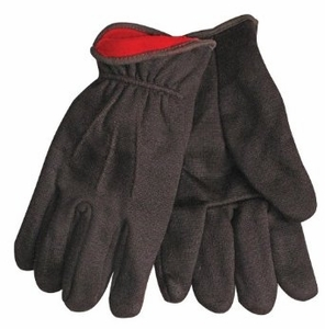 820RL WINTER RED FLANNEL LINED 10oz BROWN JERSEY GLOVES