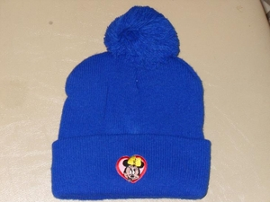84248 CHILD SIZE KNIT HAT.,WITH POM TOP (6 HAT PACKAGE)