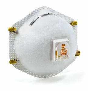"""8511 N95 3M&#153; PARTICULATE RESPIRATOR WITH EXHALE VALVE<font color=""""000000"""">"""